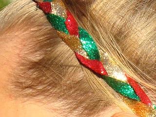 Holiday Sparkle Glitter Braid