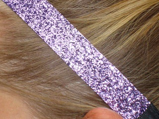 Lavender Glitter Headband
