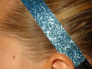 Light Blue Glitter Headband
