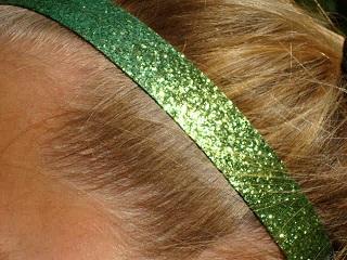 Lime Green Glitter Headband