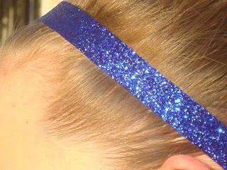 Navy Blue Glitter Headband