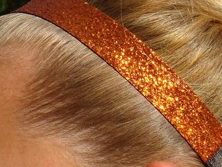 Orange Glitter Headband
