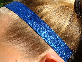 Royal Blue Glitter Headband