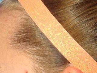 Tangerine Glitter Headband