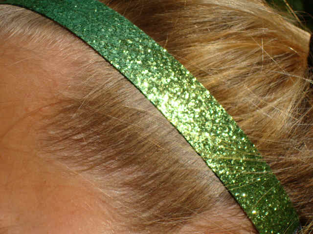 Lime Green Glitter Headband