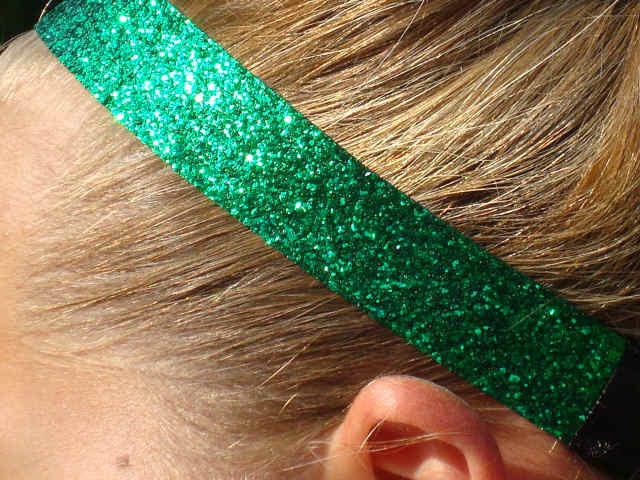 Green Glitter Headband