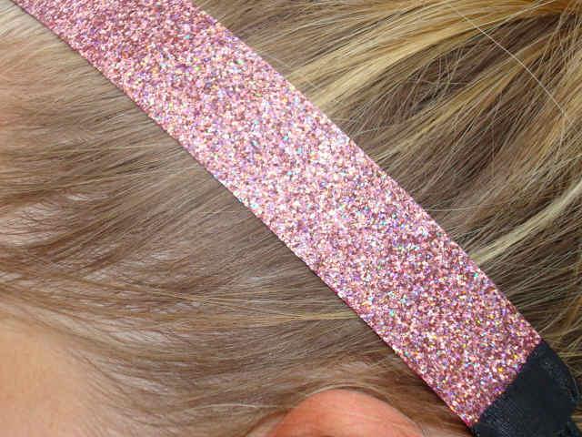 Iced Pink Glitter Headband