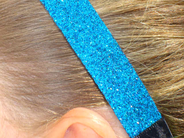 Blue Diamonds Glitter Headband