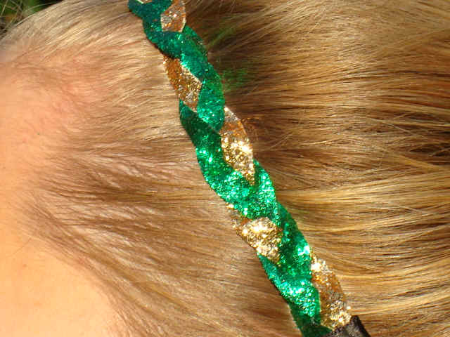 Green/Gold Glitter Braid