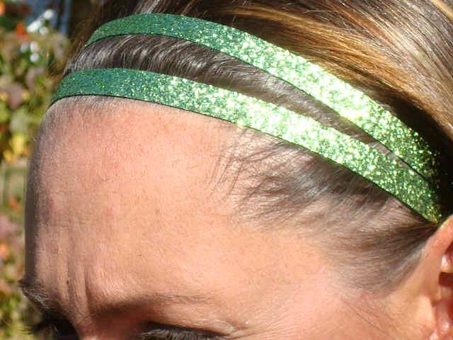 Lime Green Glitter Twins