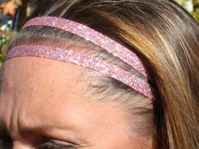 Iced Pink Glitter Twins