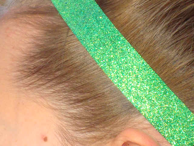 Sour Apple Glitter Headband