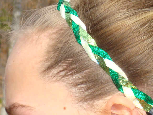 Green With Envy Glitter Braid