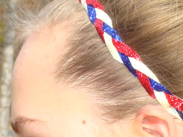 Star Spangled Banner Glitter Braid