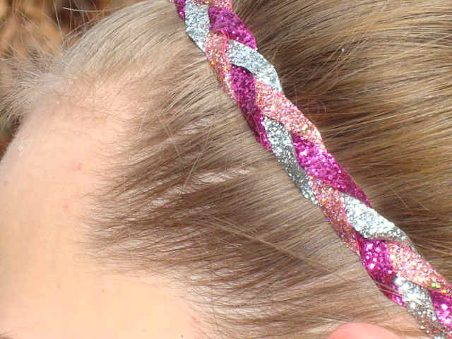 Pretty Pink Princess Glitter Braid