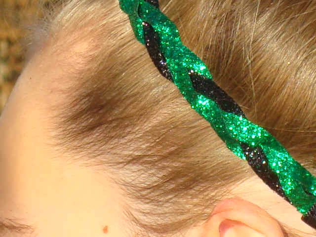 Green/Black Glitter Braid