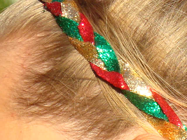 Holiday Sparkle Glitter Braid